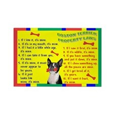Boston Terrier Property Laws Rectangle Magnet