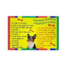 Boston Terrier Property Laws Rectangle Magnet (10