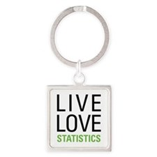 Statistics Square Keychain