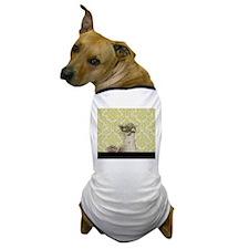 western country lavender damask Dog T-Shirt