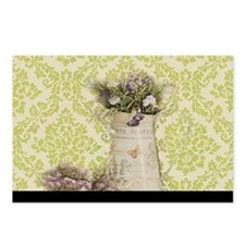western country lavender damask Postcards (Package