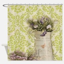 western country lavender damask Shower Curtain