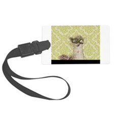 western country lavender damask Luggage Tag