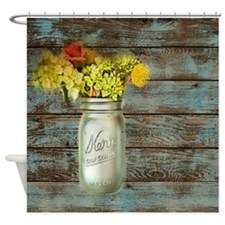 mason jar floral barn wood western country Shower