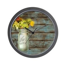 mason jar floral barn wood western country Wall Cl