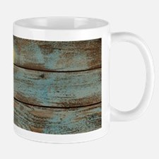mason jar floral barn wood western country Mugs