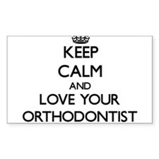 Keep Calm and Love your Orthodontist Decal