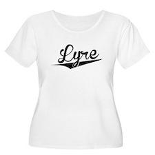 Lyre, Retro, Plus Size T-Shirt