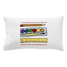 Art Supplies Pillow Case
