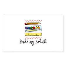 Budding Artist Decal