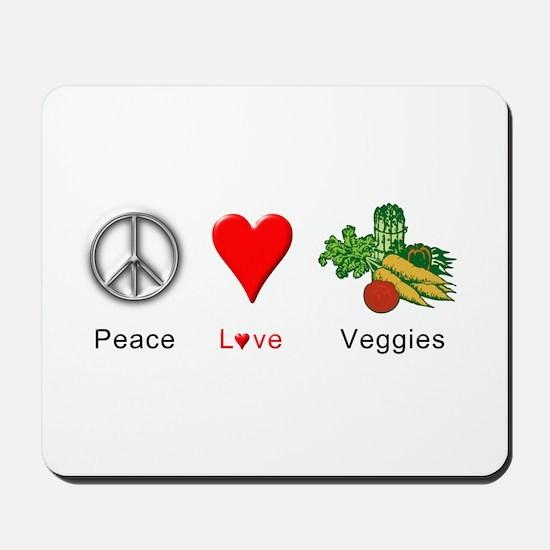 Peace Love Veggies Mousepad
