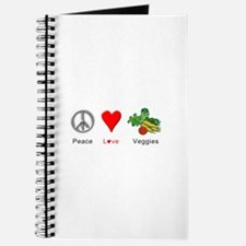 Peace Love Veggies Journal