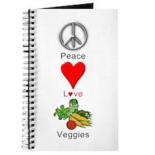 Peace Love Veggies Journal