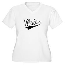 Maia, Retro, Plus Size T-Shirt