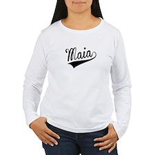 Maia, Retro, Long Sleeve T-Shirt