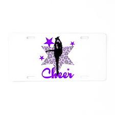 Purple Cheerleader Aluminum License Plate