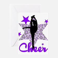 Purple Cheerleader Greeting Card