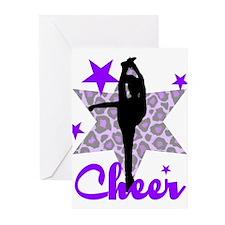 Purple Cheerleader Greeting Cards (Pk of 10)