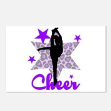 Purple Cheerleader Postcards (Package of 8)