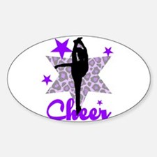 Purple Cheerleader Sticker (Oval)