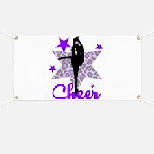Purple Cheerleader Banner