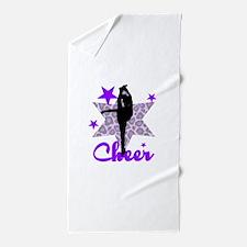 Purple Cheerleader Beach Towel