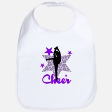 Purple Cheerleader Bib