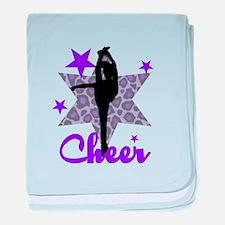 Purple Cheerleader baby blanket