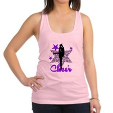 Purple Cheerleader Racerback Tank Top
