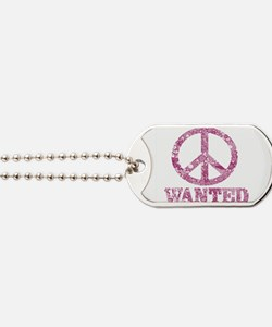 Peace Wanted Dog Tags