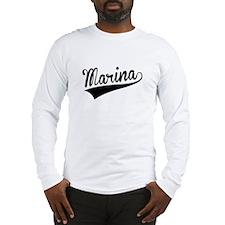 Marina, Retro, Long Sleeve T-Shirt