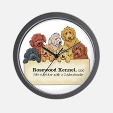 Rosewood Kennel Goldendoodles Wall Clock