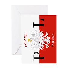 Polish Flag Poland Polska Greeting Cards