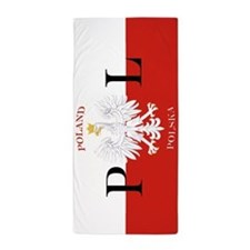 Polish Flag Poland Polska Beach Towel