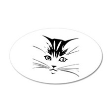 Cat face Wall Decal