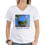 Shoot for the Sky Women's V-Neck T-Shirt