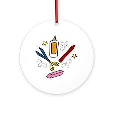 Craft Tools Ornament (Round)