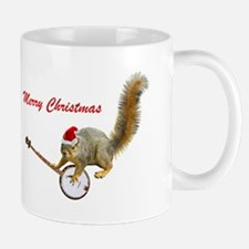 Merry Christmas Banjo Squirrel Mug Mugs