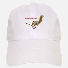 Merry Christmas Banjo Squirrel Baseball Baseball Cap