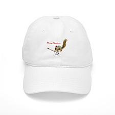 Merry Christmas Banjo Squirrel Baseball Cap