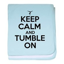 Keep Calm and Tumble On baby blanket