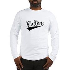 Melton, Retro, Long Sleeve T-Shirt