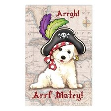 Bichon Pirate Postcards (Package of 8)