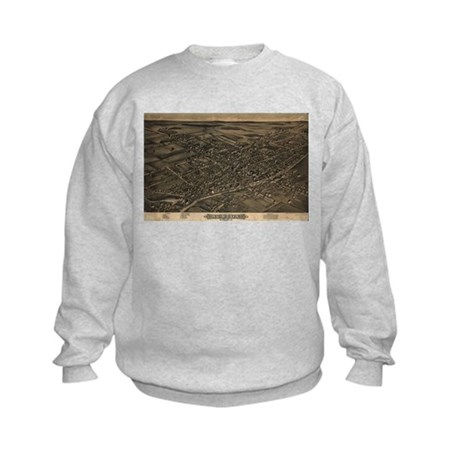 Map of Albion, N.Y., 1880 Kids Sweatshirt