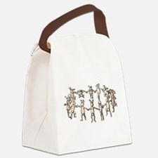 dancing bunnies in a circle Canvas Lunch Bag