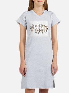 dancing bunnies in a circle Women's Nightshirt