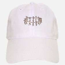 dancing bunnies in a circle Baseball Baseball Baseball Cap