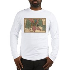 Map of Baltimore 1822. Long Sleeve T-Shirt