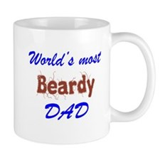 Worlds Most Beardy Dad funny Fathers Day Mugs