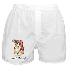 Welsh Corgi Pirate Boxer Shorts